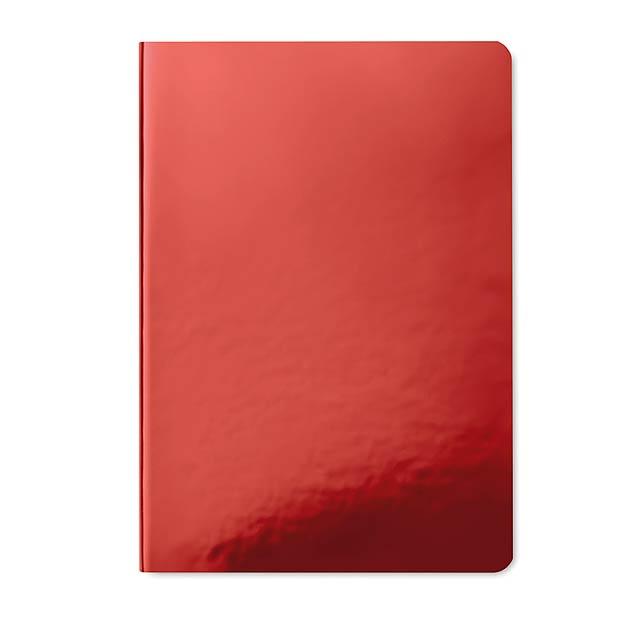 Zápisník s lesklou obálkou - SPARKLING NOTE - červená