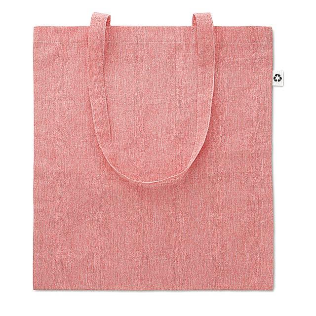 Dvoubarevná nákupní taška - COTTONEL DUO - červená
