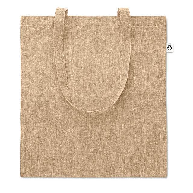 Dvoubarevná nákupní taška - COTTONEL DUO - béžová