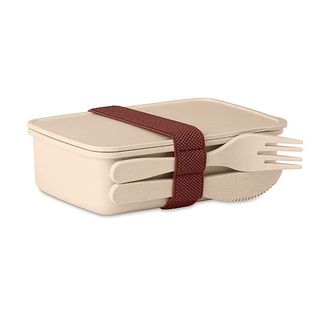 Krabička na obědyz bambusu/PP - ASTORIABOX - béžová