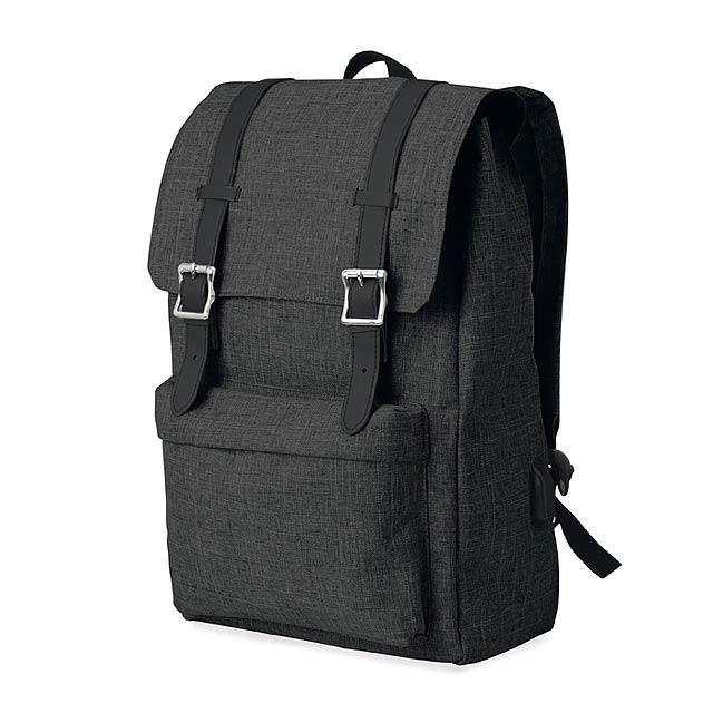 Batoh z 600D polyesteru - RIGA - černá