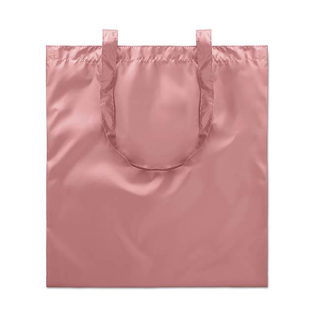 Lesklá nákupní taška - TOTE NEW YORK - růžová
