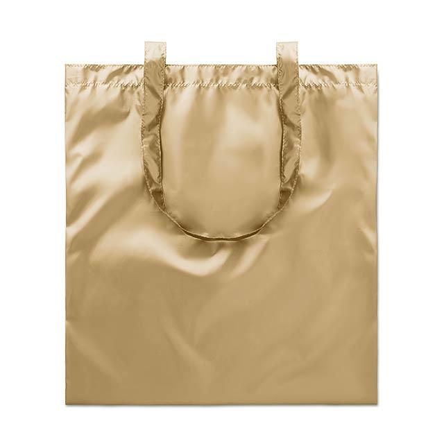Lesklá nákupní taška - TOTE NEW YORK - zlatá