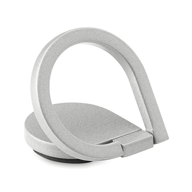 Držák na telefon - DROP RING - stříbrná
