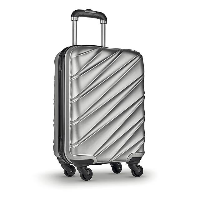 DUBAI - Kufr na kolečkách              - stříbrná mat