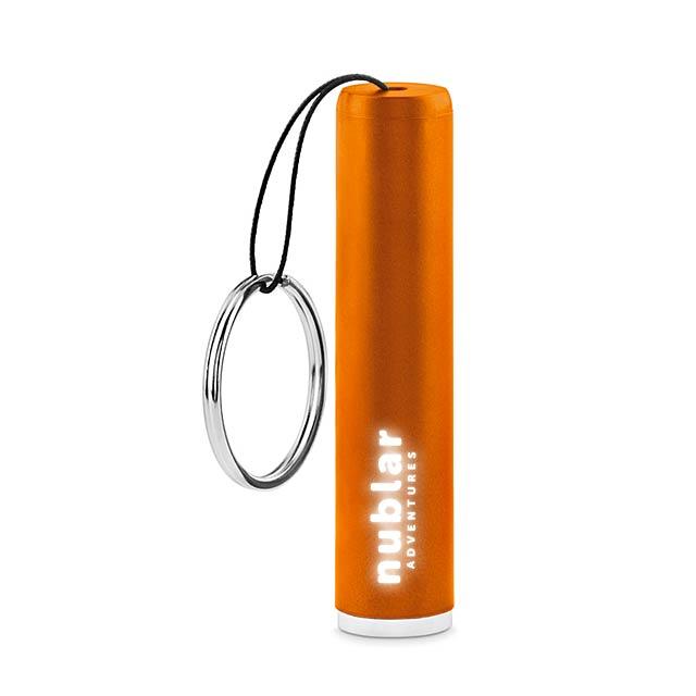 Plastic light up logo torch    MO9469-10 - orange