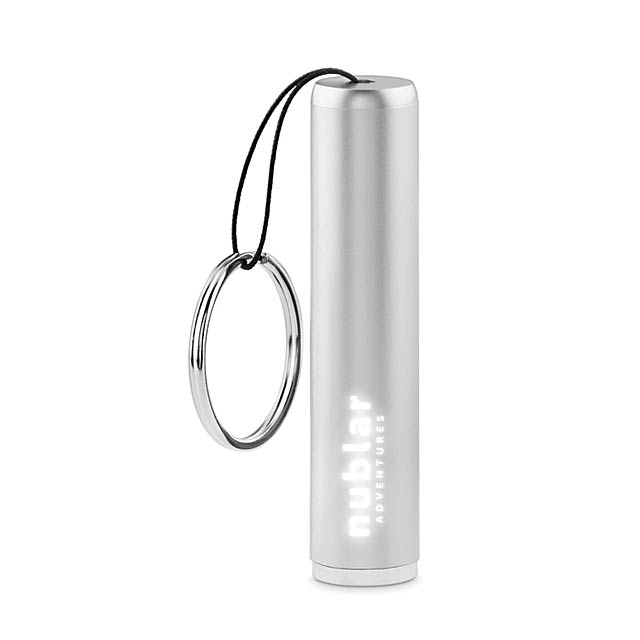 Plastic light up logo torch    MO9469-14 - silver
