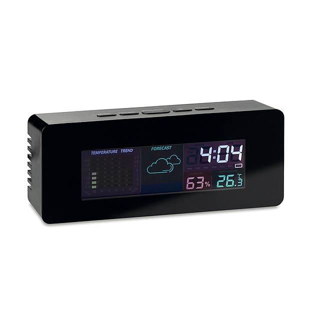 Indoor weather station clock   MO9496-03 - black