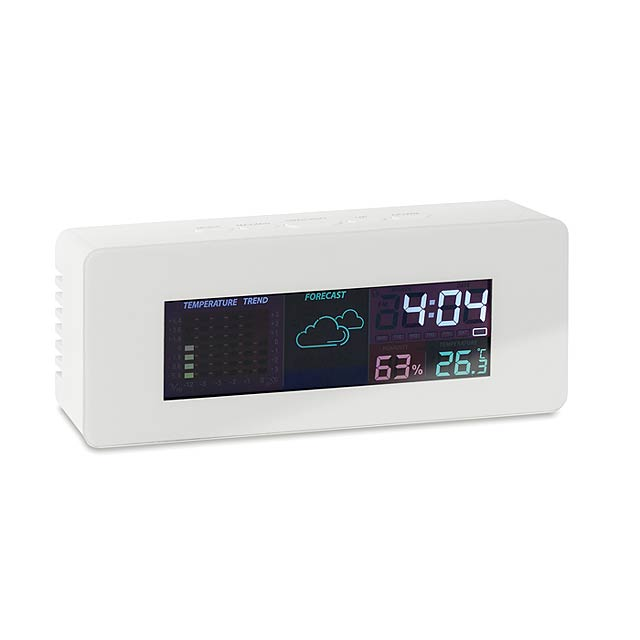 Indoor weather station clock   MO9496-06 - white