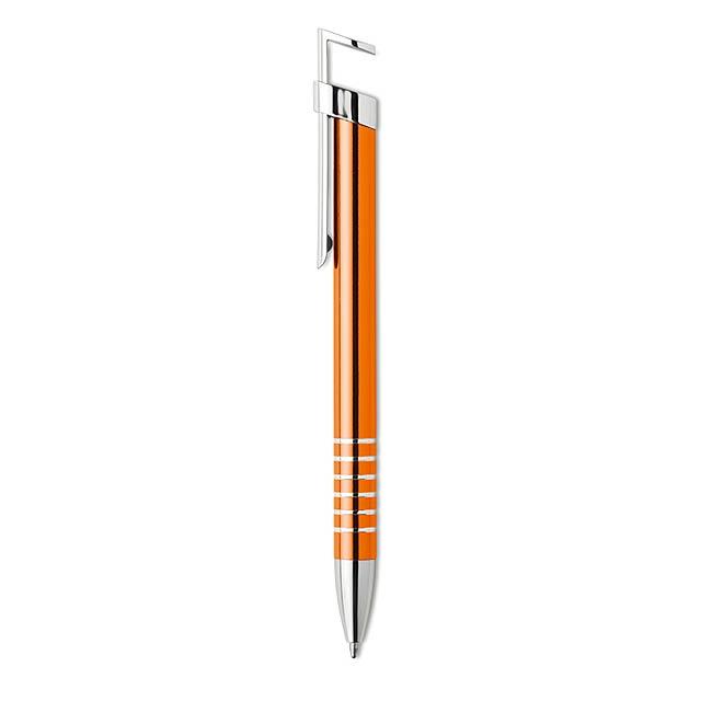 STANDY - Propiska se stojánkem na mobil - oranžová