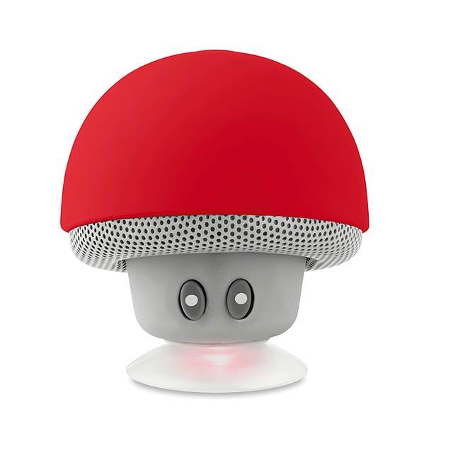 MUSHROOM - Bluetooth reproduktor          - červená