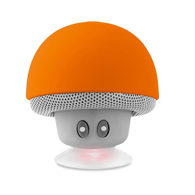 MUSHROOM - Bluetooth reproduktor          - oranžová