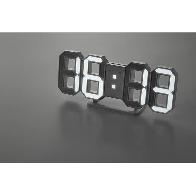 LED Clock with AC adapter      MO9509-06 - white
