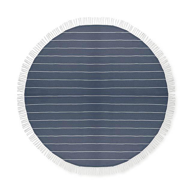 ROUND MALIBU - Bavlněný ručník                - modrá