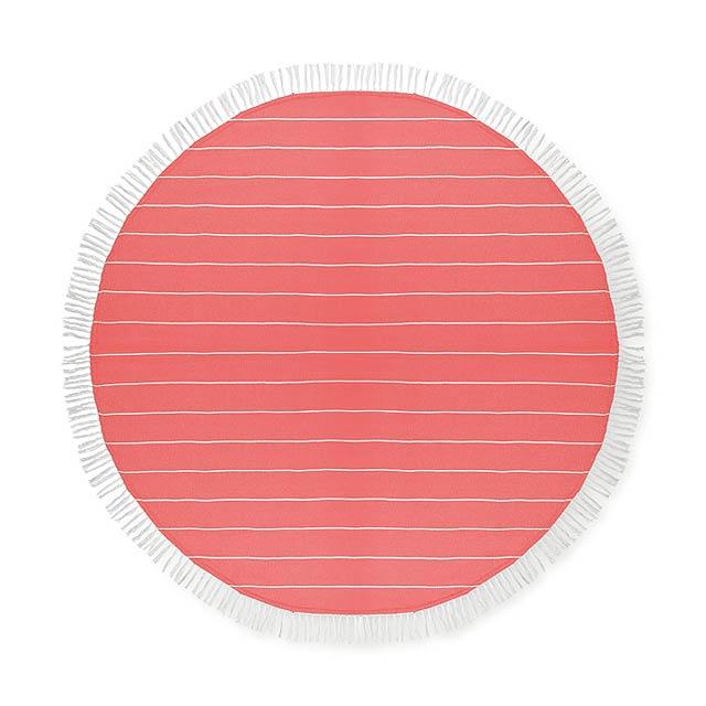 ROUND MALIBU - Bavlněný ručník                - červená
