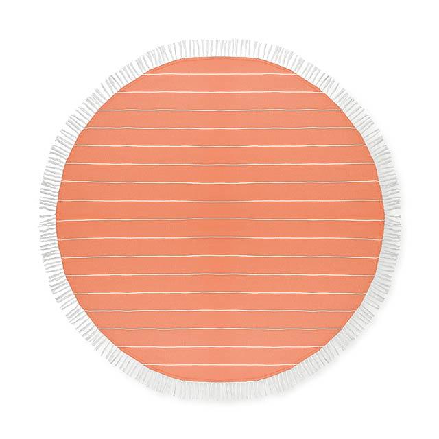 ROUND MALIBU - Bavlněný ručník                - oranžová