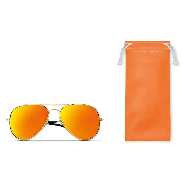 MALIBU - Sluneční brýle                 - oranžová