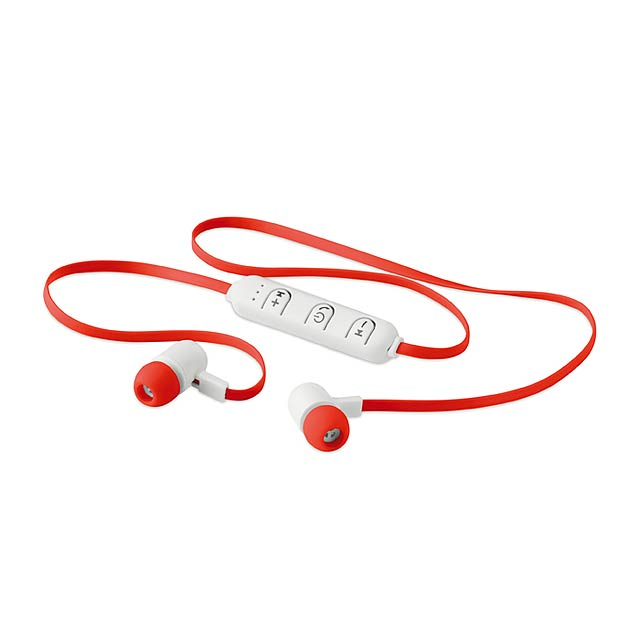 JAZZ - Bluetooth sluchátka            - červená