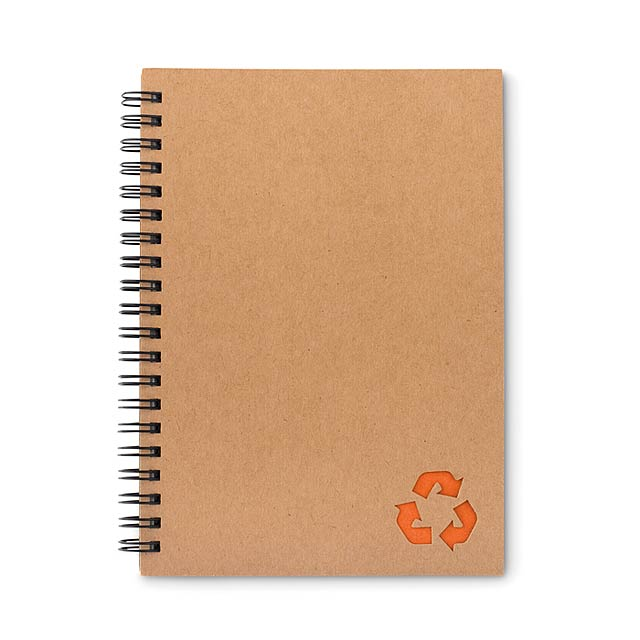 PIEDRA - Kroužkový zápisník             - oranžová