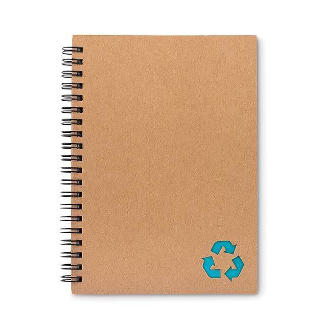 PIEDRA - Kroužkový zápisník             - tyrkysová