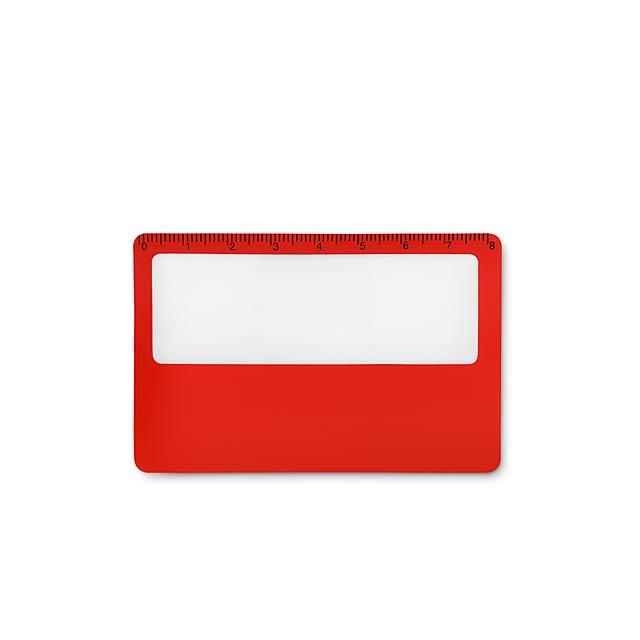 LUPA - Pouzdro na kartu               - červená
