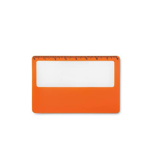 Credit card magnifier          MO9540-10 - orange
