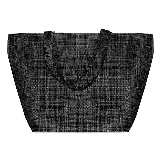 DUO BAG - Tkaná nákupní taška            - černá