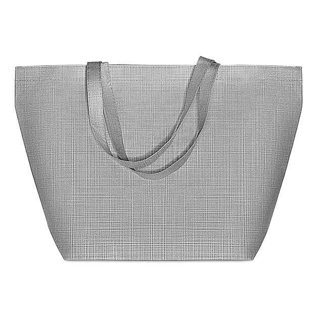 DUO BAG - Tkaná nákupní taška            - šedá