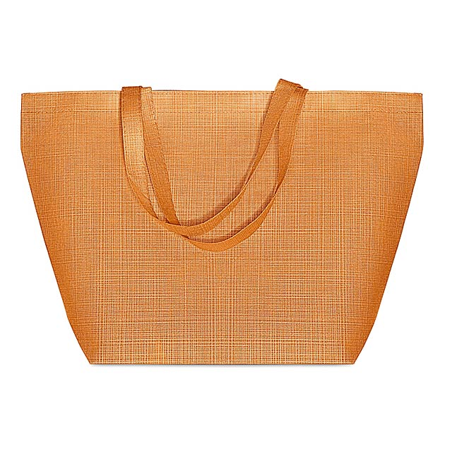 DUO BAG - Tkaná nákupní taška            - oranžová