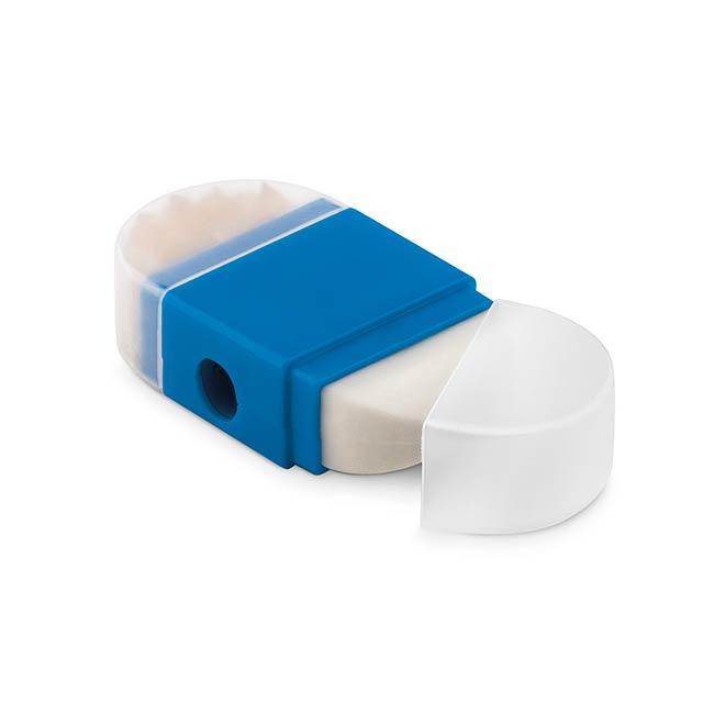 GOMA2 - Ořezávátko s gumou             - modrá