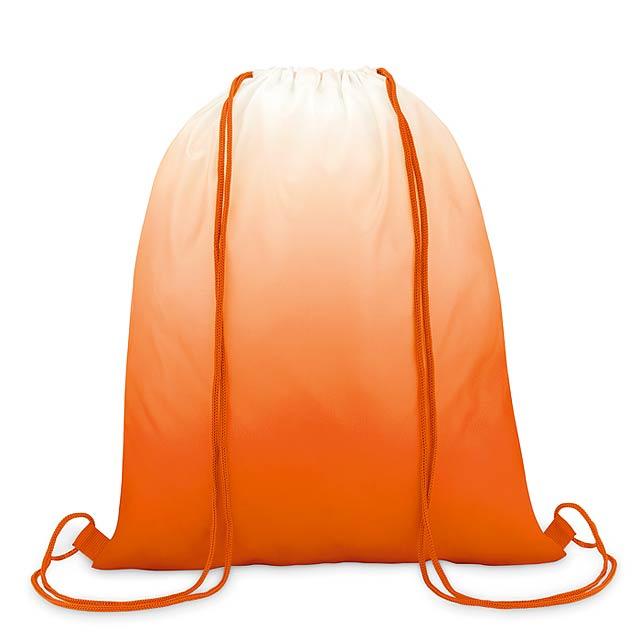 FADE BAG - Batoh se šňůrkami              - oranžová