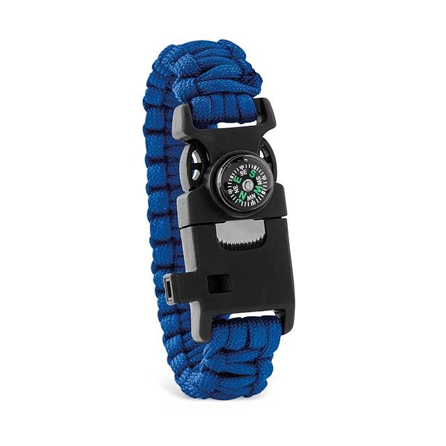 SURVIVAL - Bezpečnostní náramek           - královsky modrá