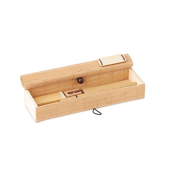 CORTINA ETUI - Bambusový set na psaní         - dřevo
