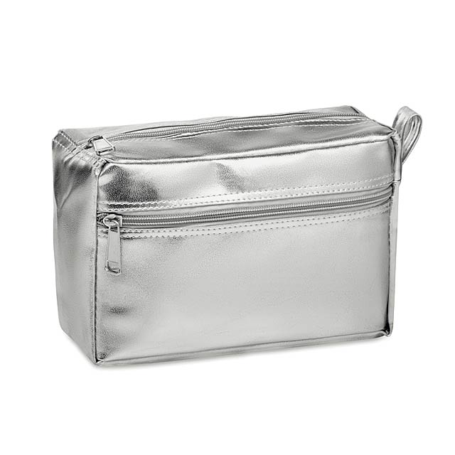 SILENE - Kosmetická taštička            - stříbrná