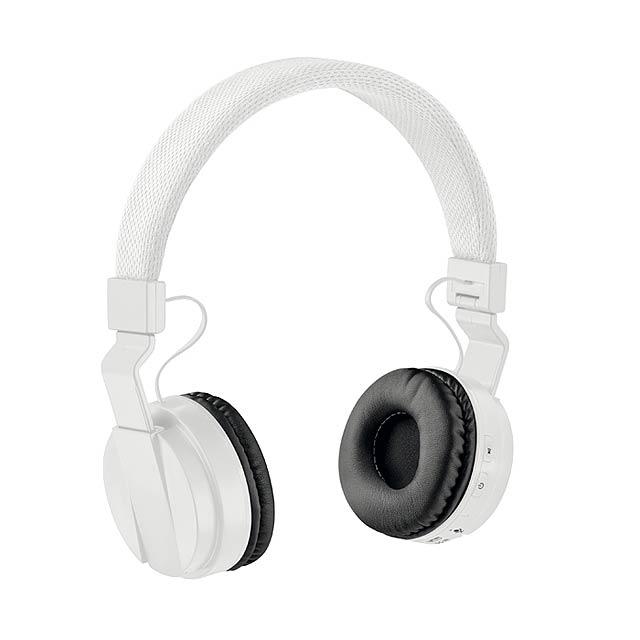 PULSE - Skládací bluetooth sluchátka   - bílá