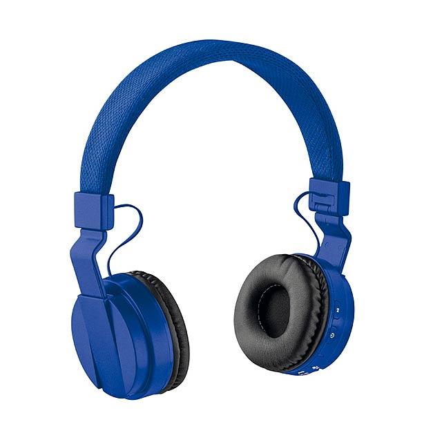 PULSE - Skládací bluetooth sluchátka   - královsky modrá