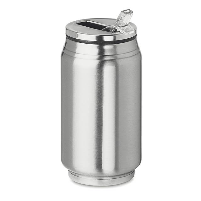 BOTTLE CAN - Dvoustěnná láhev               - stříbrná mat