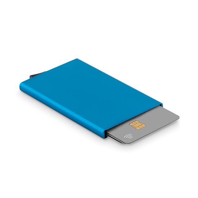SECURPUSH - RFID obal na karty             - modrá