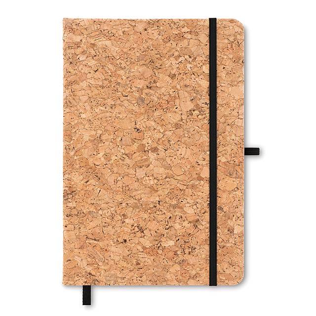 SUBER - Korkový zápisník               - černá