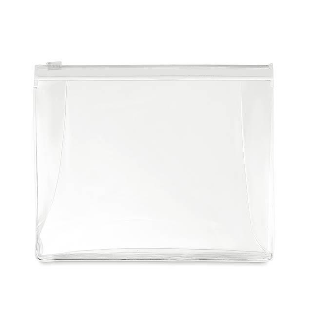 COSMOBAG - Kosmetická taštička            - transparentní bílá