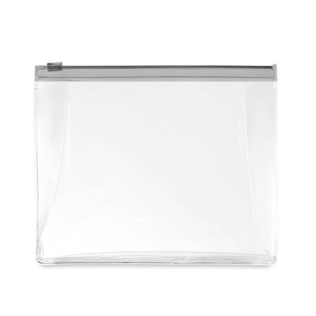 COSMOBAG - Kosmetická taštička            - transparentní šedá
