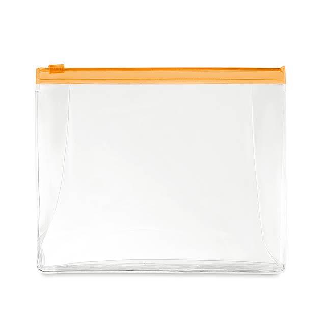 COSMOBAG - Kosmetická taštička            - transparentní oranžová