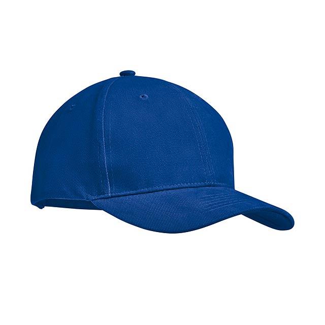 TEKAPO - Šestipanelová kšiltovka        - královsky modrá