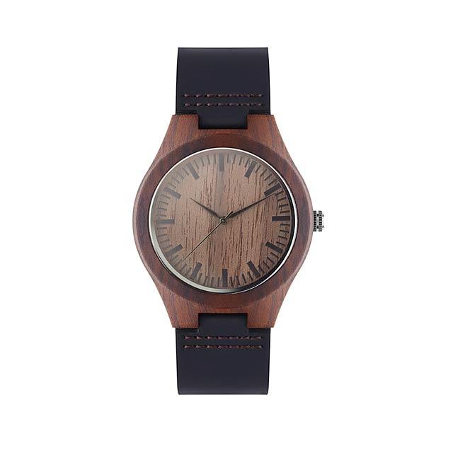 SION - Kožené hodinky                 - hnědá