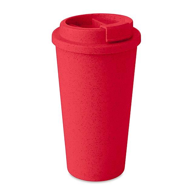 ELBRUS - Dvoustěnný pohárek             - červená