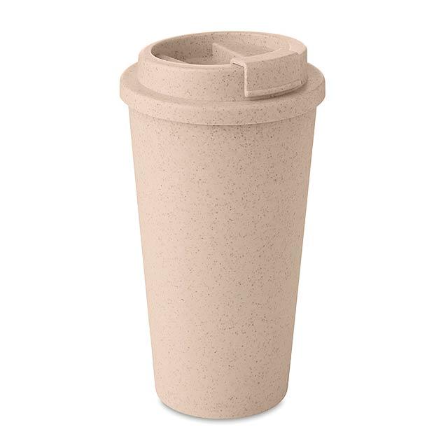 ELBRUS - Dvoustěnný pohárek             - béžová