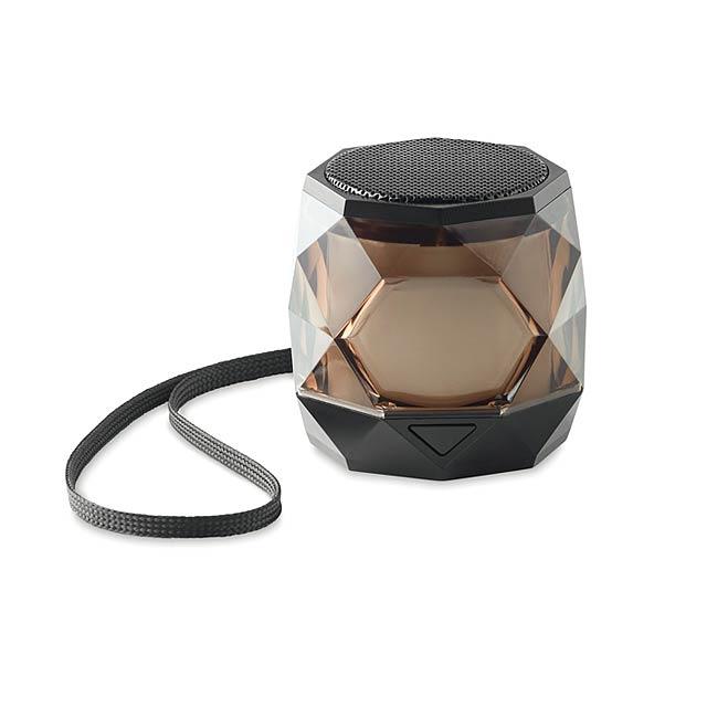 RAINBOW - Bezdrátový reproduktor-diamant - černá