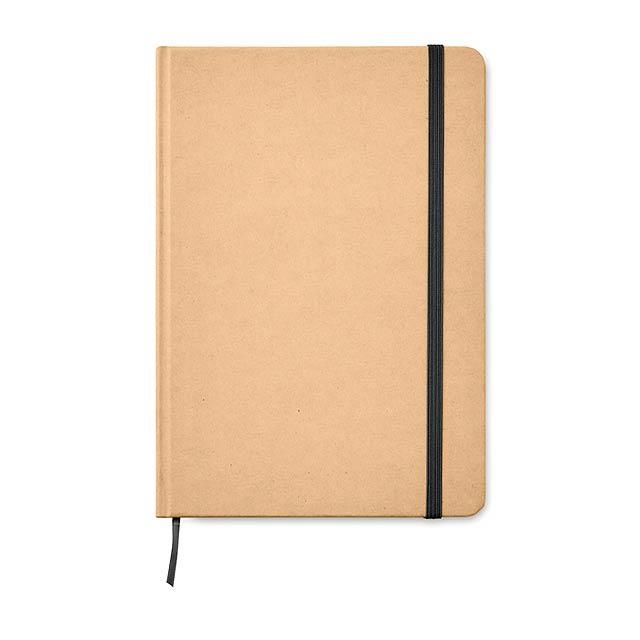 EVERWRITE - A5 zápisník v recykl. kartonu  - černá