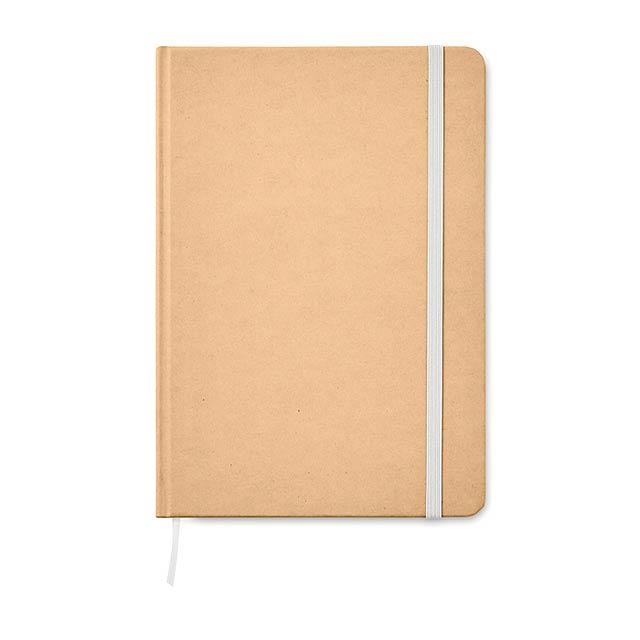 EVERWRITE - A5 zápisník v recykl. kartonu  - bílá