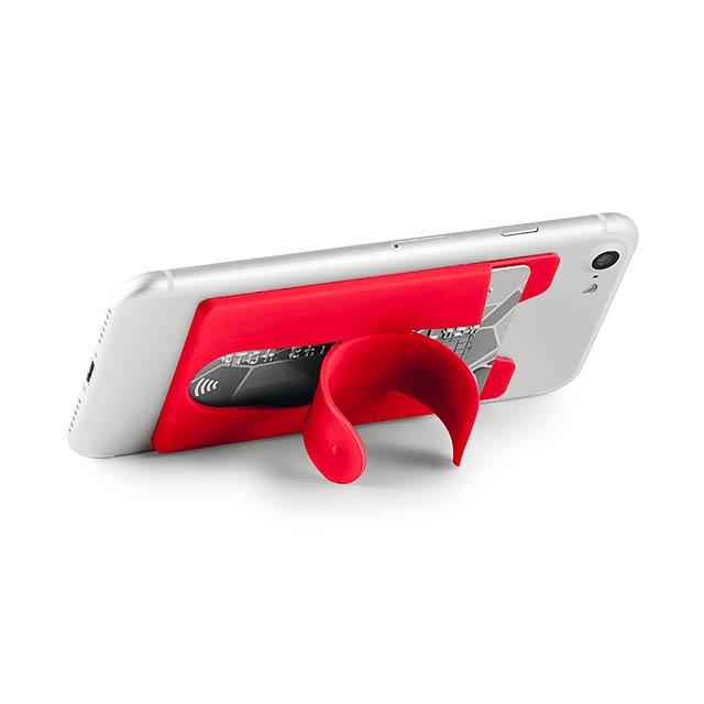 ARC - Držák karet ze silikonu.       - červená